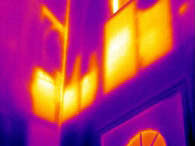 insulation defects in a new home - thermal imaging
