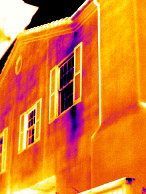 locate moisture beneath the surface - thermal imaging